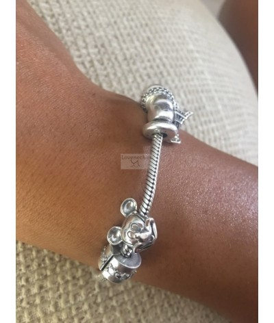 Silver charm mickey mouse