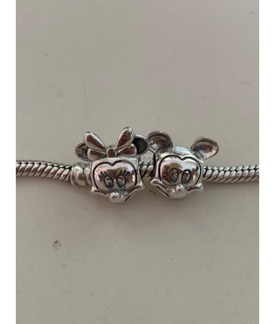 Silver charm minnie mouse