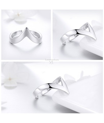 Silver ring wave | Loveneck