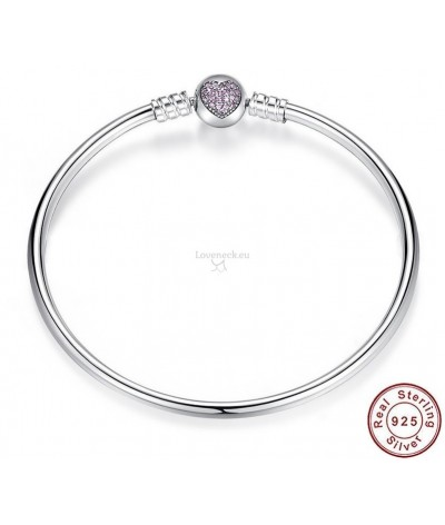 Silver bracelet for charms | Loveneck