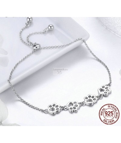 Silver bracelet dog tracks | Loveneck