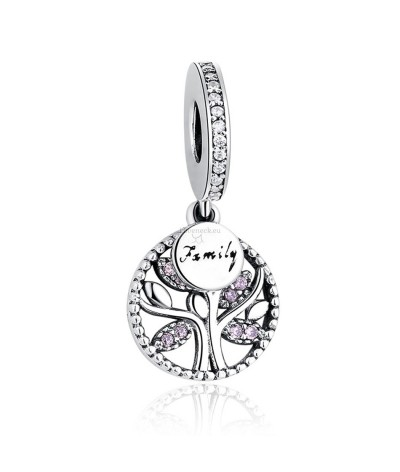 Silver charm tree of life