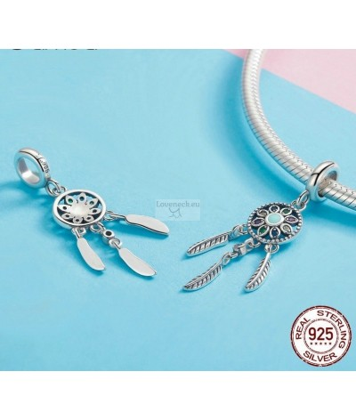 Silver charm dream catcher