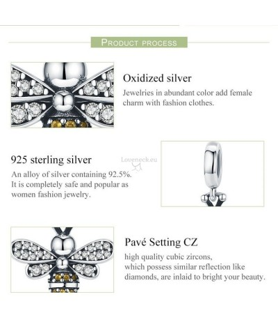 Silver charm bee