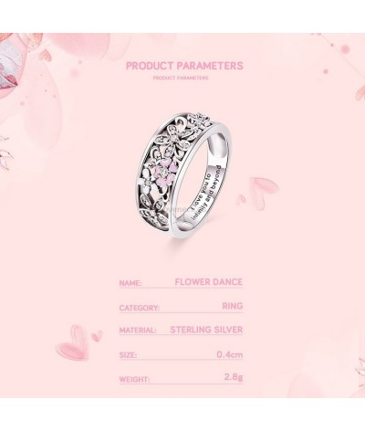 Silver ring with flowers and zircons   Loveneck
