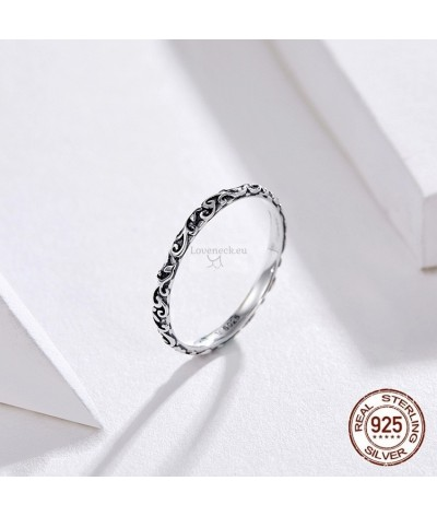 Silver ring engraved | Loveneck